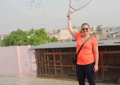 Learning pigeon game at Old Delhi with Masterji Kee Haveli Tours