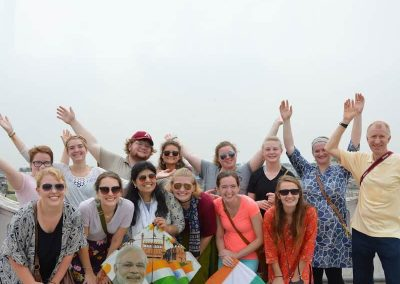 University group at Old Delhi with Masterji Kee Haveli Tours