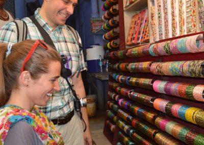 Colorful Glass Bangles at Old Delhi