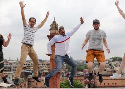 Friends forever at Old Delhi