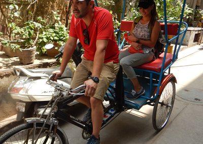 Rickshaw ride fun at Old Delhi