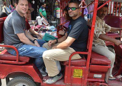 Electric Rickshaw Ride at Old Delhi