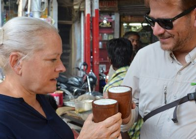 Cheers with Lassi at Old Delhi