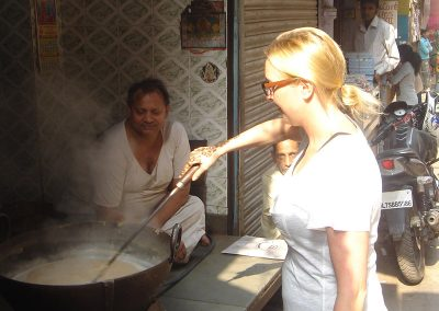 Learning to make Milk Cake at Old Delhi