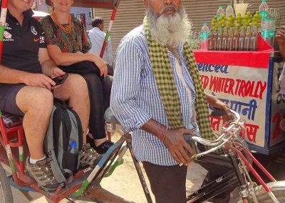 Strong Rickshaw Puller at Old Delhi