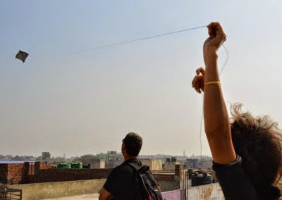 Kite Flying at Old Delhi