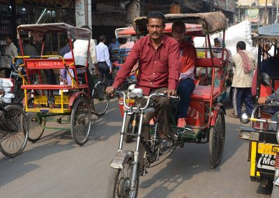Chaotic traffic at Old Delhi