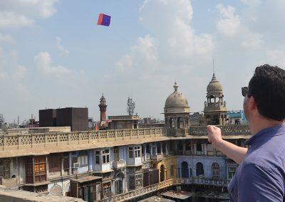 Kite Lesson at Old Delhi